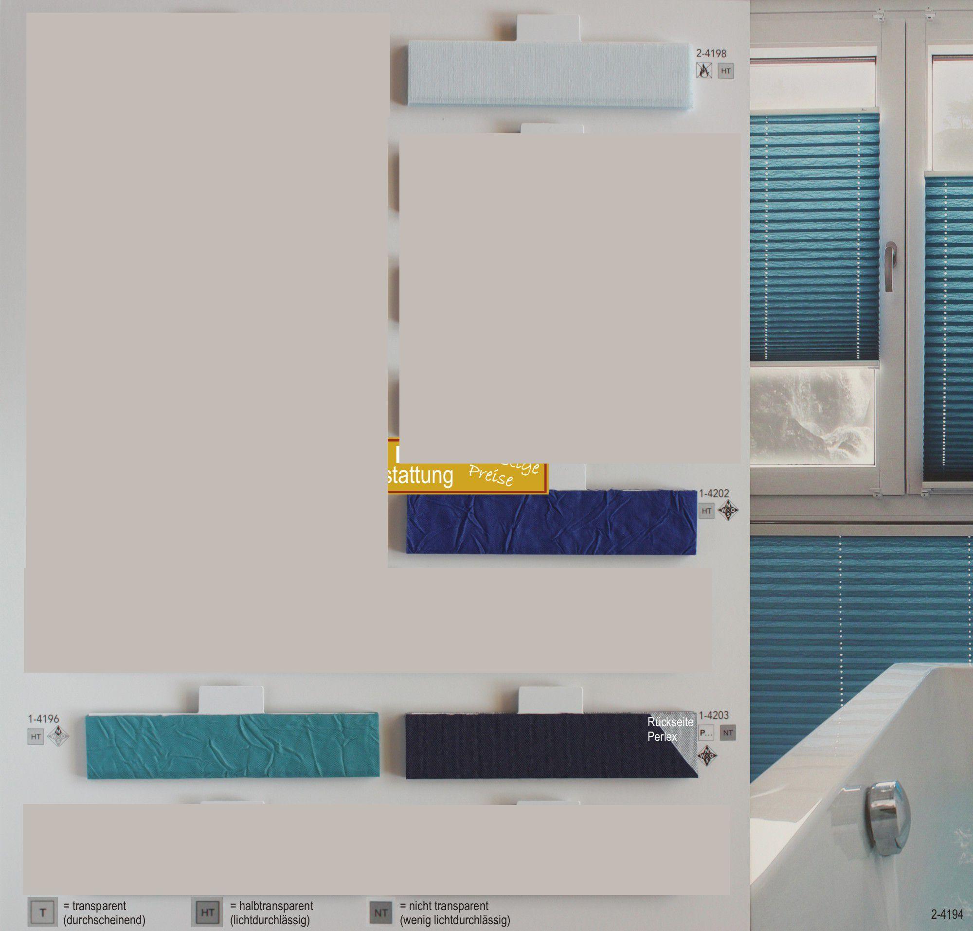 Blau Farbkarte: MHZ Plissee Online Bestellen. Jetzt Plissee-Stoff